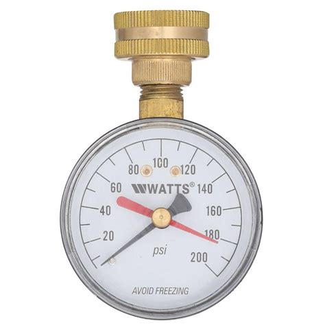 1 Inch Mini Blinds 3 4 In Plastic Water Pressure Test Gauge Dp Iwtg The