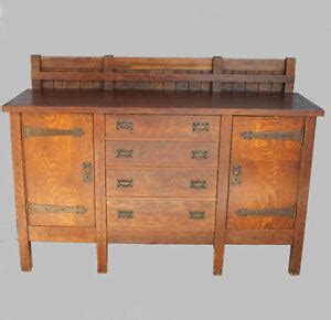 Mission Sideboard by Antique Gustav Stickley Eight Legged Mission Oak