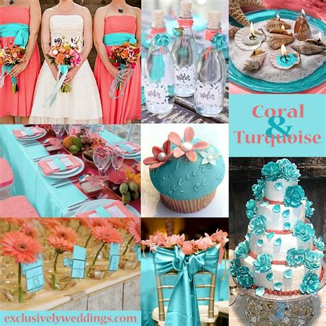 coral and turquoise wedding colors exclusivelyweddings never thought to put these two colors
