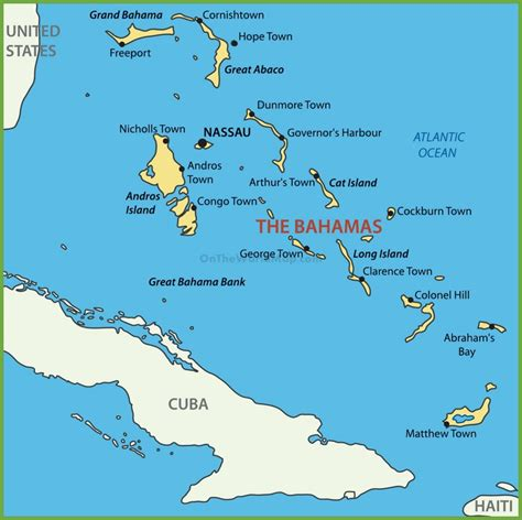 bahamas location map bahama islands map
