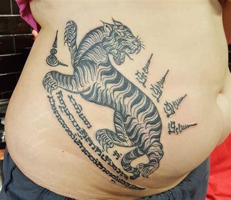 thai tattoo london thai tattoo sak yant bamboo hand poke style