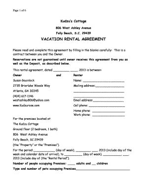 Vacation Rental Agreement Forms And Templates Fillable Printable Sles For Pdf Word Vacation Rental Agreement Template Word