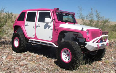 jeep wrangler custom pink 2015 jeep wrangler rubicon pink white custom bad boy