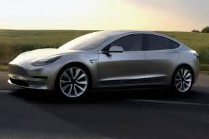 Tesla Front Tesla Model 3 Electric Sedan Revealed