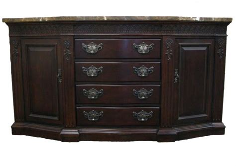 Marble Top Buffet Table Bernhardt Embassy Row Marble Top Buffet Lot 894