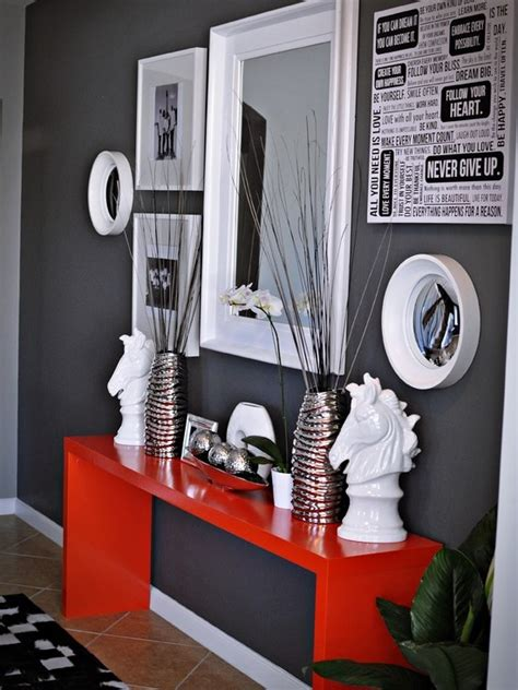 Red Home Accessories Decor | 39 cool red and grey home d 233 cor ideas digsdigs
