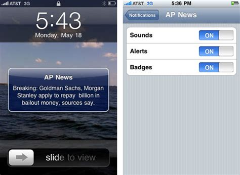iphone push notification settings  screenshots macrumors