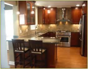 exceptional Kitchen Backsplash Ideas For Dark Cabinets #2: subway-tile-backsplash-with-cherry-cabinets.jpg
