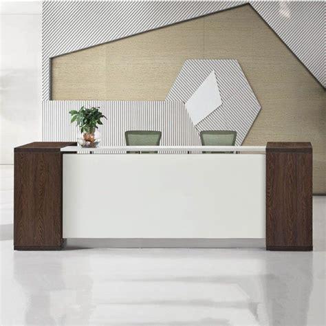 excellent quality reception desk modern wood hospital