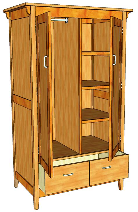woodwork armoire blueprints pdf plans