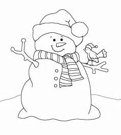 free coloring pages of the snowman is white