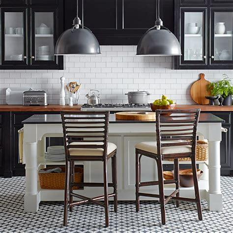 Barrelson Kitchen Island With Black Granite Top Williams Sonoma | barrelson kitchen island with black granite top williams