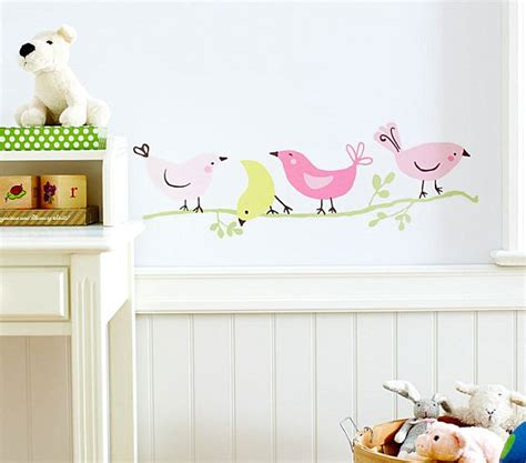 Wall Decals For Nurseries Bird Themed Nursery Wall Decals Decoist