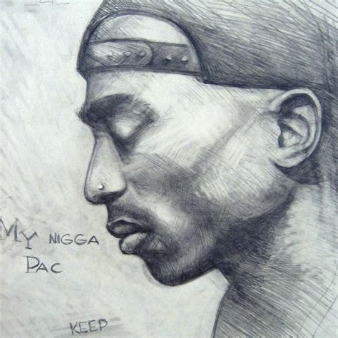 Drawing 2pac by My Sketch Of Tupac By Dmitriy Pogorelov Via Behance 2pac