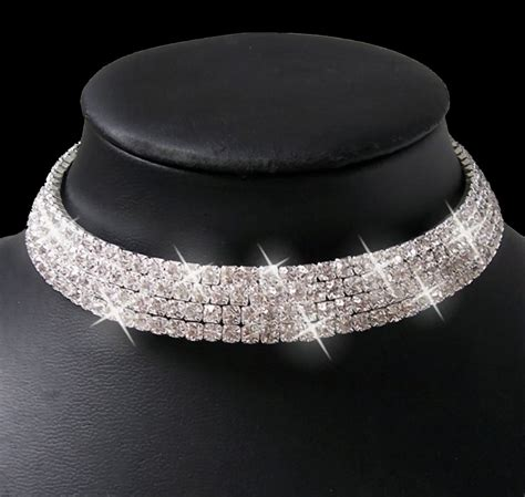 Brautschmuck Collier Strass by Collier Kette Ohrringe Armband Strass Set