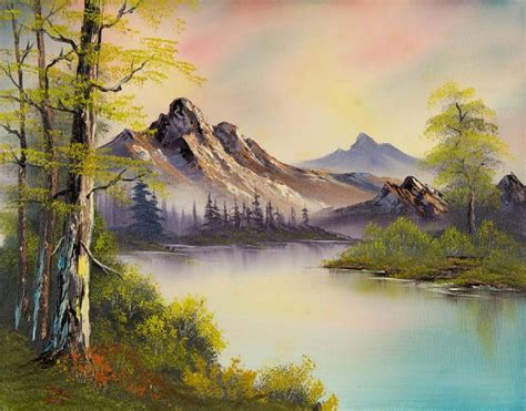 bob ross style paintings for sale bob ross pastel skies painting bob ross pastel skies