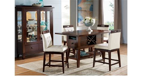 julian place chocolate counter height julian place chocolate vanilla 5 pc counter height dining