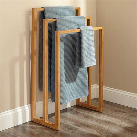 bathroom towel racks banyan bamboo towel rack with hooks bathroom