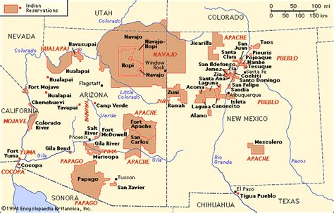 american reservations arizona map indian tribes in arizona map