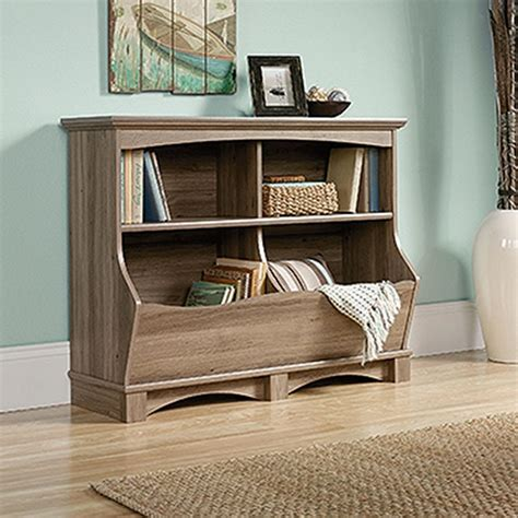 sauder salt oak sauder harbor view salt oak bin bookcase 420327 the home