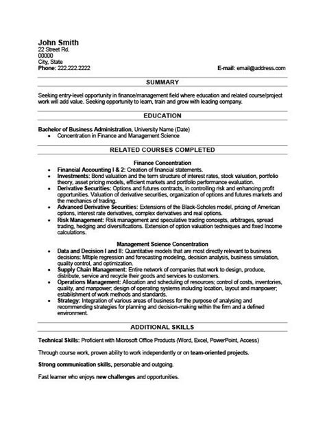 Resume Sles For College Graduate resume templates for recent college graduates 28 images