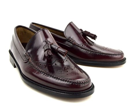 brogue tassel loafers tassel loafer brogues in oxblood the lord brogue mod shoes