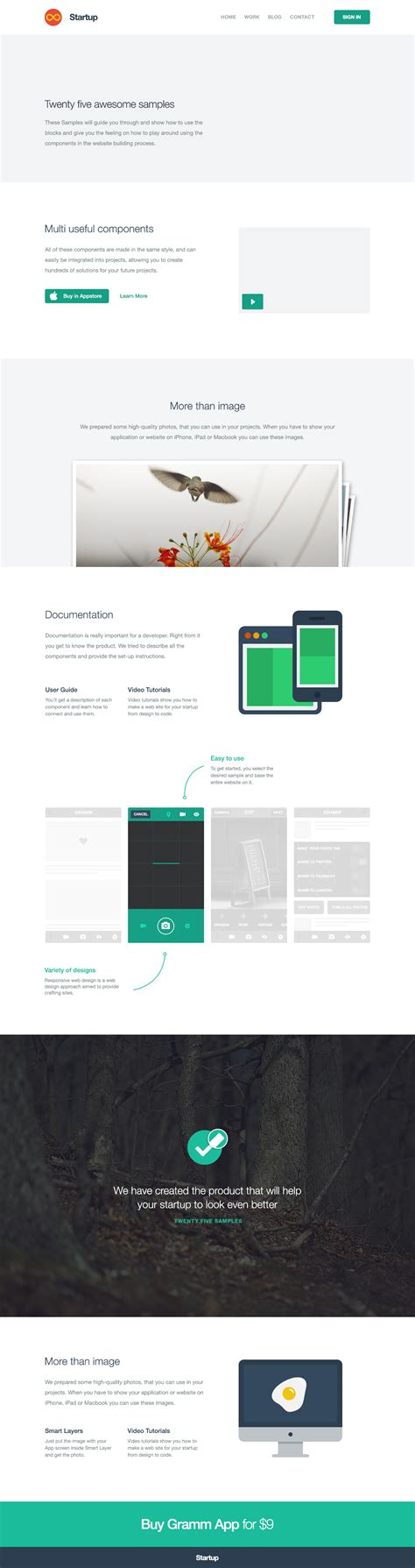 Php Template Framework by Start Bootstrap Startup Framework Templates By Designmodo