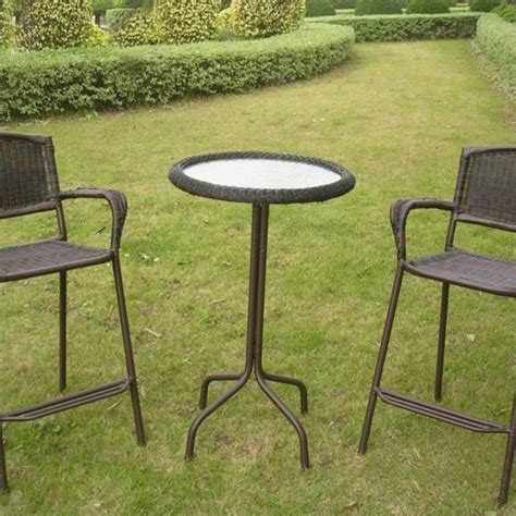 Patio Pub Table Glass Top Outdoor Patio Pub Table 3187 T Xx