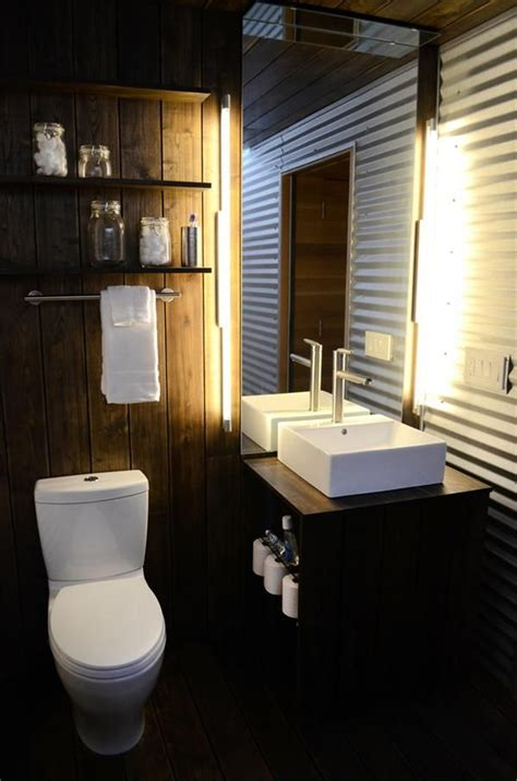 corrugated metal bathroom walls corrugated metal wall bathroom dream house pinterest