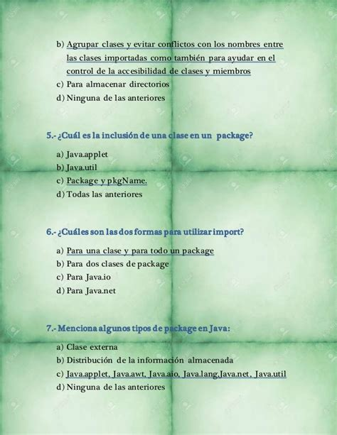preguntas sobre java preguntas sobre lenguaje java
