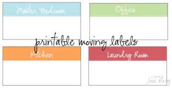 moving box label template free printable moving box labels organization