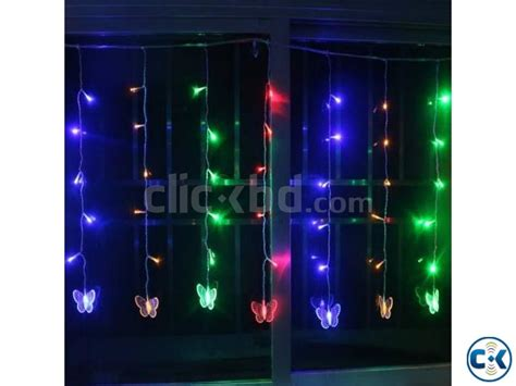 power curtain power on lighting butterfly led curtain light clickbd