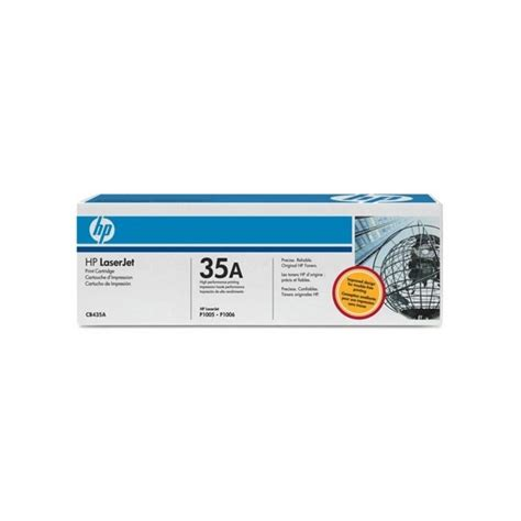 Hp Toner 35a Cb435a Original Black hp 35a cb435a black original toner cartridge