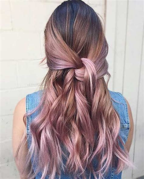 diy rose gold hair for brunettes 25 great ideas about rose gold balayage on pinterest