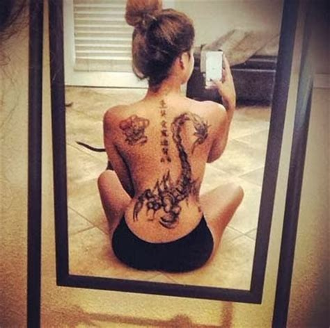 tattoo tribal nas costas feminina tattoo de escorpiao nas costas femininas menina de atitude