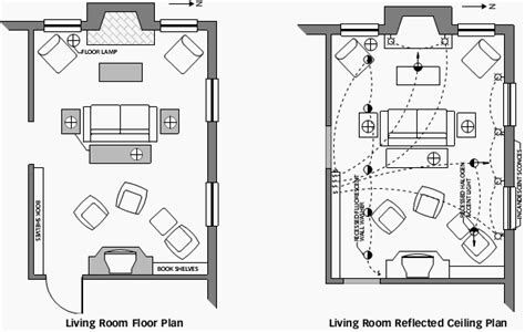 living room electrical layout living room floor and reflected ceiling plan living room