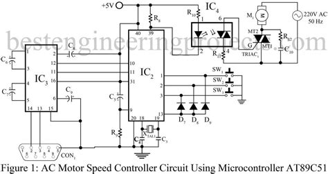 induction motor speed using triac ac motor speed controller circuit using at89c51 best engineering projects