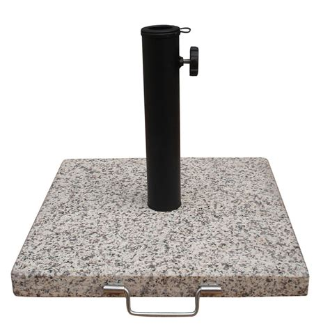 Patio Umbrella With Base Shop Garden Treasures Speckled Beige Patio Umbrella Base At Lowes