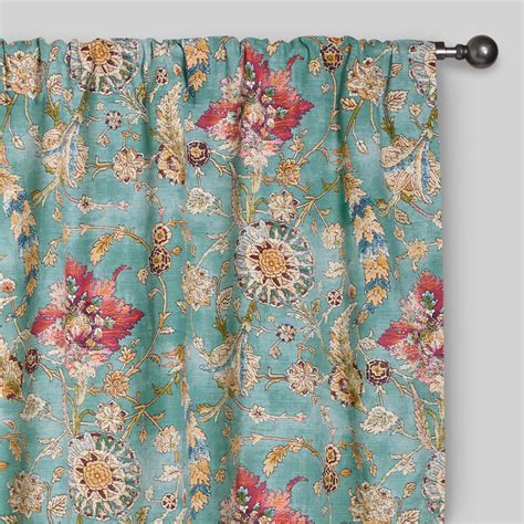 aqua kitchen curtains aqua genevieve cotton concealed tab top curtains set of 2