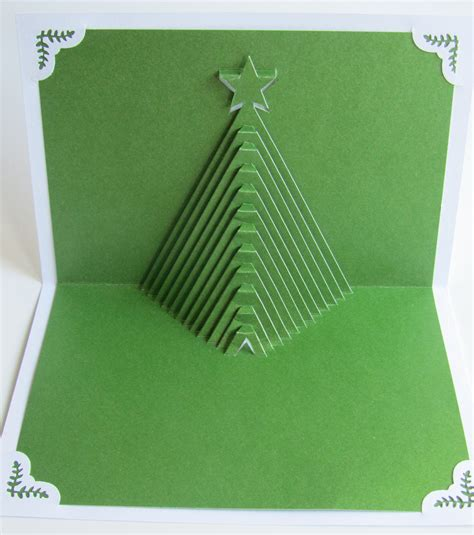 christmas tree pop up home d 233 cor 3d handmade cut by hand
