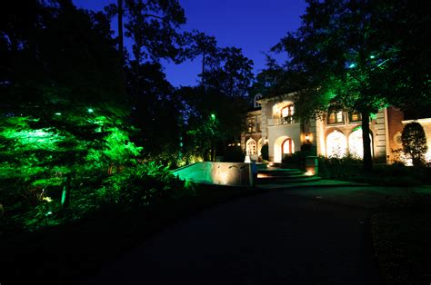landscape lighting installation houston landscape lighting design and installation