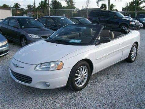 Chrysler Sebring 2001 Convertible by Convertible Chrysler Sebring Lake Worth Mitula Cars