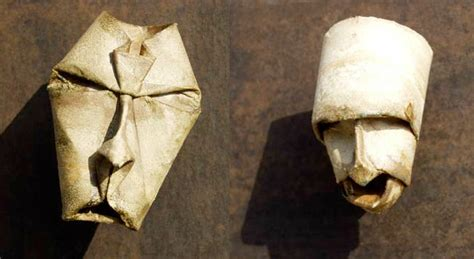 Toilet Paper Roll Origami - origami toilet paper roll masks by fritz junior jacquet