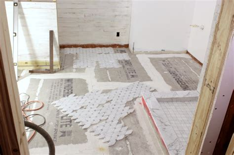 Mosaic Tiles In Bathrooms Ideas carrara bianco honed long octagon bardiglio gray dot
