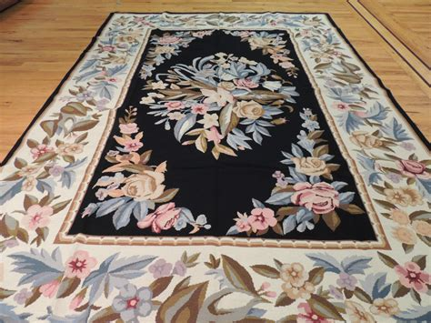 6 x9 rug splendid aubusson design needlepoint area rug carpet 6 x 9 black ebay