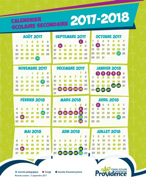 Calendrier Conges Scolaires Calendrier Scolaire