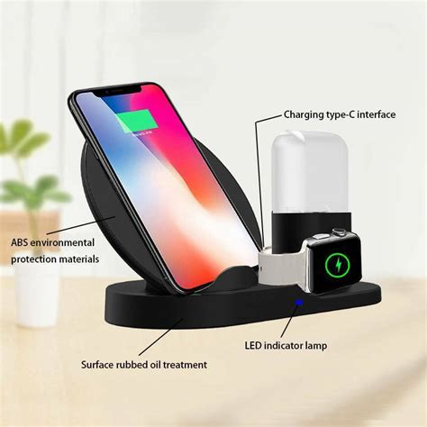 3in1 qi wireless charger fast charging stand dock for apple iphone xs max ebay