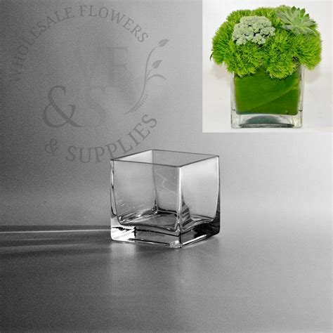 Glass Cube Vase by 3 Quot Square Glass Cube Vase Wholesale Flowers And Supplies