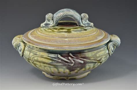 Pottery Handmade - handmade pottery covered casserole 8 quot gifted pottery