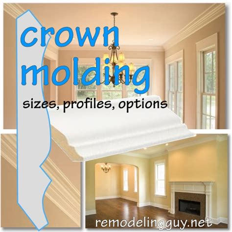 Do It Yourself Kitchen Ideas by Selecting Crown Molding Sizes Profiles Options